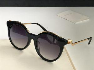 Nuovi occhiali da sole per stilisti 0118 affascinanti occhi da gatto con montatura a testa di leopardo retro stile di moda all'avanguardia avanguardia all'ingrosso