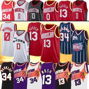 James NCAA Westbrook Hakeem Harden Nash Russell Charles Olajuwon Hakeem Barkley foguete Steve College Basketball Jersey