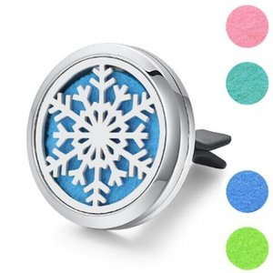 30mm 9 Models Stainless Steel Car Air Freshener Perfume Essential Oil Diffuser Necklace Locket Home Essential Friendship Gift 2019 New Sale