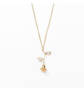 Declaración niñas de flor rosa de oro rosa collares pendientes de las mujeres de belleza y joyería de moda bestia Collier regalos de los amantes de DHL
