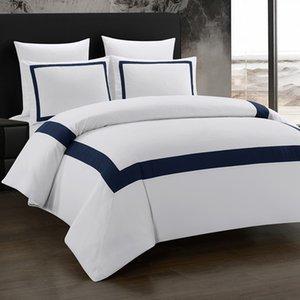 Yimeis Sábanas un conjunto geométrico del lecho de costura edredón de cama doble cama BE45005