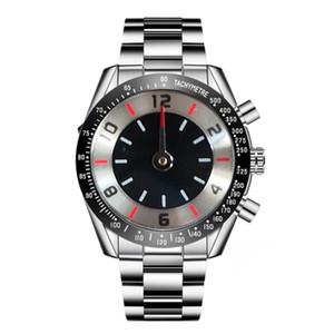 Роскошная Мужские часы Европа хронограф кварцевые часы Человек из нержавеющей стали наручные часы f1 гоночный автомобиль Мужские спортивные часы