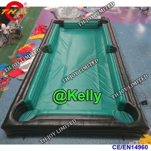 barato inflável inflável do snooker da tabela de bilhar do snooker do futebol Venda quente mesa de bilhar do ar inflável jogos do carnaval do snooker