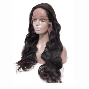 L Malaysian Human Hair Body Wave 360 Lace Frontal Wig With Baby Har 360 Lace Wigs Natural Color Adjustable Band 360 Frontal Wig