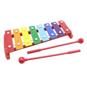 Mini-8-Schlüssel Metall Xylophone Musikrhythmusinstrument Spielzeug für Kinder