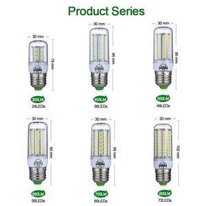LED Lamba 10 adet / grup LED Işık 220 V LED Ampul 48/56 / 69LEDS Mısır Işık SMD 5730 Lampada Ev Dekorasyon Için Titreme Işık