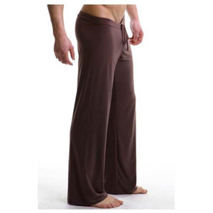 Ana Pantolon Yumuşak İpeksi Seksi Erkek Yoga Pantolon Yüksek Kalite Spor Spor Pantolon Yoga Pantolon Nefes Erkekler Spor Tozluklar