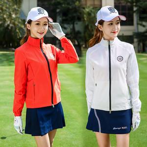 Femmes Veste de golf légère Tops Veste coupe-vent en nylon de sport pour femmes Vêtements Chemise à manches longues coupe-vent Vêtements de golf