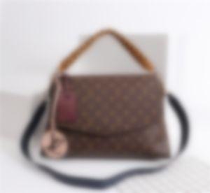 top M43953 Leather classic fashion handbag card bag zero wallet men's and women's backpacks single shoulder bag M43953