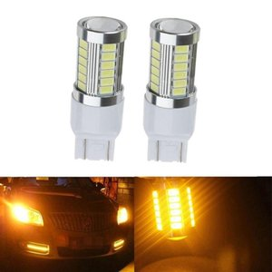 2pcs Strobe LED T20 flash P21 / 5W BAY15D 1157 1156 7443 5630 BA15s 33SMD frein voiture ampoule rouge clignotant arrière LED Feu stop 12v