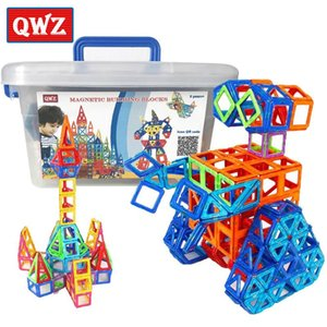 QWZ 110pcs Mini Magnetic Designer Construction Set Model & Building Plastic Magnetic Blocks Educational Toys For Kids Gift Y200111