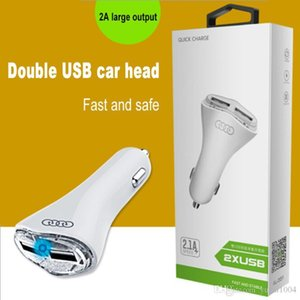 Puerto de salida USB del cargador del coche del cargador del coche 2.1A Dual USB para el iPhone Samsung Xiaomi Huawei