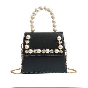 Großhandelsqualitäts-Designer-Handtaschen-Schulter-Beutel-Münzen-Purse Fashion Perlen Perlendekoration Plain Frauen Kette Umhängetasche Flap Bag Artwork