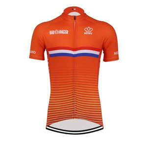 Hot Classical Retro NEW Netherlands Cycling Jersey Bike Road RACE Team Road Race Short Top Orange Cycling Wear Racing clothing