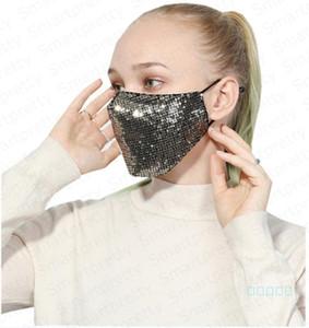 À la mode sirène paillettes de Protection Masque PM2. 5 brume Antipoussière bouche couverture lavable Visage Masque Anti-poussière respirateurs élastique Contour D'oreille masque E4902