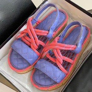 дизайнерская женская повседневная обувь летние пляжные плоские сандалии цветовая гамма конопляная веревка деревянные нижние сандалии высокого качества