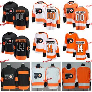 2019 Sean Couturier Philadelphia Flyers Stitched Jerseys 홈 사용자 정의 대체 새 검은 셔츠 # 14 Sean Couturier Hockey Jerseys S-XXXL