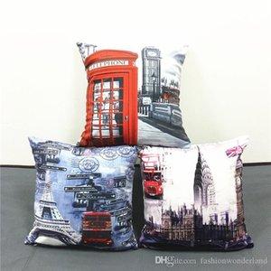 LONDRES Amor Paris London Bus Telefone Blue Sky capa de almofada Pillow Covers Sofá decorativa fronha Para Car sofá Sofá Assento