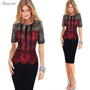 Womens Dress Elegant Vestidos Lace Peplum See Through Sleeve Casual Party Special Occasion Sheath Fitted Bodycon Dress 386 Designer Clothes