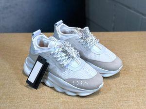 2019 chaussures versace novos homens e mulheres clássico de sola grossa de moda sapatos casuais lace-up sapatos casal tênis sapatos tamanho 36-45