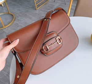 Nova Retro Saddle Handbag Inserir Buckle Couro Bolsa de Ombro Messenger Bag Flap Crossbody Bag Strap Handbag Shoulder