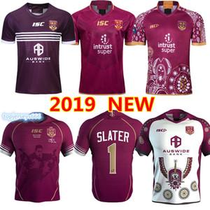 Maillots de rugby QLD 2019 2020 MENS MAROONS maillots de rugby SLATER SMITH maillot de maillot Rugby de la Ligue des Queensland Maroons S-3XL