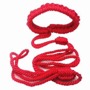 Handmade BDSM Bondage Collar Dog Cosplay Nylon Restraints Strap Sex Toys for Couples Red GN252001241-YTJ