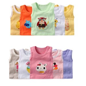 5PCS Pack Baby Boy Tops Sleeveless Girls Vest Tanks Newborn Undershirts Children T-Shirt Cotton Tee Shirts Toddler Clothes Y200704