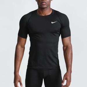 trasporto libero di sport aderente ad asciugatura rapida abbigliamento fitness traspirante in esecuzione allenamento fitness a maniche corte T della maglietta formato S-XXL