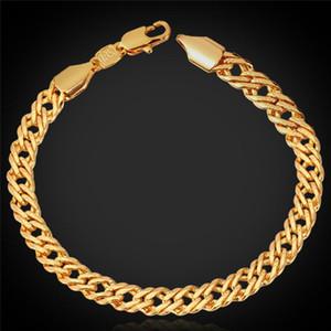 Gold Venitian Chain 18K Stamp Women Men Jewelry Rose Gold Platinum Plated 2015 New Fashion Chain Bracelet