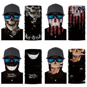 55*55Cm Bandanna Paisley Print Handkerchief Magic Skull Scarf Riding Headband Square Turban Outdoor Hiking Face Magic Skull Scarf Ljj #87#820