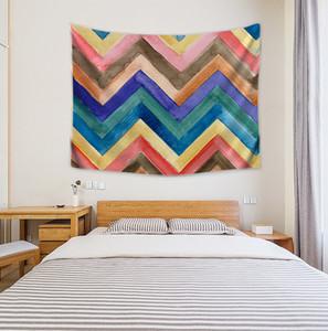 Colgante colorido de la mandala de tapicería de la pared Brujería Hippie Beach banda manta del hogar del recorrido Psychedelic Art Tapices Decoración