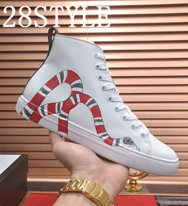 19FS 2020 Fashion sneakers men's canvas shoes high to help men's luxurious shoes men's casual shoes fashion black couple sneakers Size 35-45