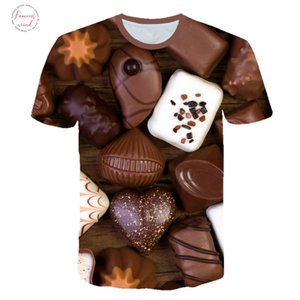 Casual Ladies Chocolate Candy Creativity T Shirt Women Tshirt Plus Size Short Sleeve O Neck Mujer T Shirt 3D Design Tee Shirt