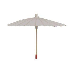 20 40 60 cm Diámetro de China marco de Japón del paraguas de papel tradicional Parasol de bambú mango de madera blanca boda Sombrillas