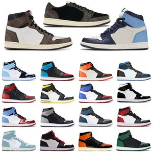 nike air jordan retro 1 travis scott 1 jumpman 1s homens mulheres tênis de basquete obsidiana UNC Pine Green Shattered Backboard mens Outdoor outdoor trainers sports sneakers