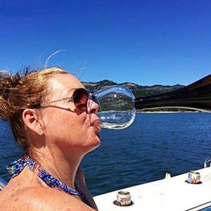 Vinho Tinto criativo Champagne copo de vidro com Seal Silicone beber diretamente garrafa de Cristal Cocktail caneca 500ML frete grátis
