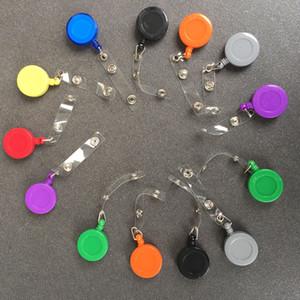 Clips rétractable Reels rétractable Porte-clefs col de carte d'identité Porte-badge porte-clés Pull badge d'identification Nom Longe Tag Card Holder Badge BH3659 TQQ