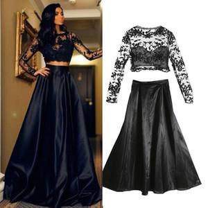 Vêtements pour femmes Mode Noir Floral Maxi Longue Robe Longue Dentelle Dentelle Soirée Soirée Robe de bal Robes de bal de bal