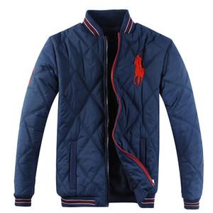 Masculinas Casacos casacos luxuosos Ralphs baixo Parkas jaquetas casuais de alta qualidade casaco de algodão jaqueta moda clássica polo de algodão