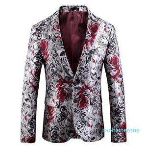 Autumn Winter High Quality Jacquard Suit Single Breasted Casual Men Blazer Fashion Plus Size M L XL 2XL 3XL 4XL 5XL