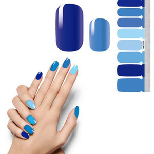 NAS002 Glitter Powder Gradient Color Sticker Nail Wraps Full Cover Polish Polish наклейка DIY самоклеящийся для ногтей Украшение