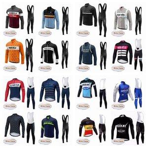 2020 Morvelo Quick Step Team Cycling Winter Thermal Fleece Jersey Bib Pants Sets Men \&#039 ;S Autumn Multiple Choices Warm Bike Sets Q504