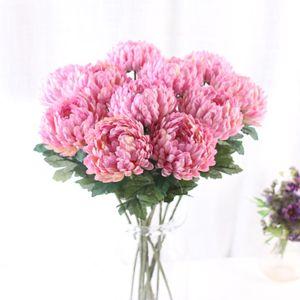 Flor artificial flores de crisantemo boda Puntales imitación de piña Casa Chrysanthemum stem Jfwje