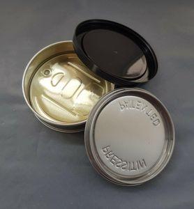 3.5g Erbe del tabacco del metallo Tin Can Pop-Top Cali con Easy Open End e a prova di bambino Coperchio etichetta personalizzata 73 (D) x23 (H) mm
