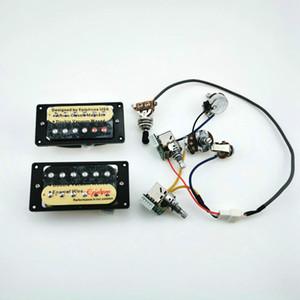 1 Set Gitarre Pickups Hals- und Brücke E-Gitarren-Humbucker-Pickups mit Pro-Kabelbaum