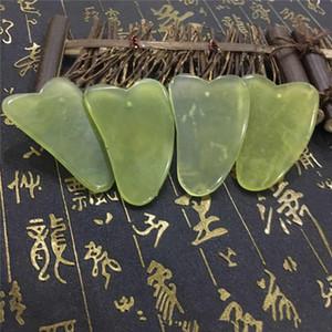 Doğal Jade Kurulu Yeşil Yeşim Taş Cure Masaj Guasha Aracı Vücut Yüz Rahatlama Güzellik Sağlık Aracı RRA3187