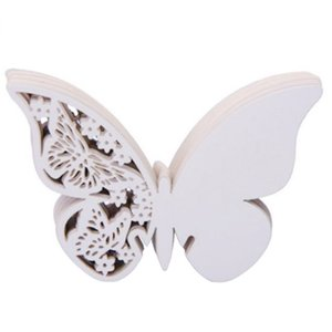 Invitation Card Greeting Cards Vertical Laser Cut Butterfly Invitations Cards Kits For Wedding Bridal Shower Birthday Cards 304Z