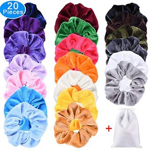 Nuovo 20pcs Hair Braiders Strumento Velvet Elastics Hair Ties Brillante Colorful Bobbles Bands 20 colori 0627 # 30