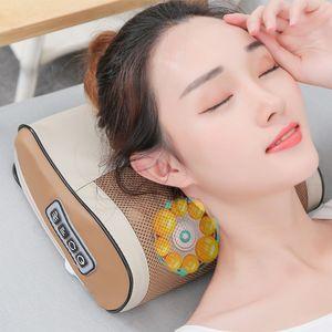 Infrared Heating Neck Massage Pillow Cervical Shoulder Back Body Electric Shiatsu Massager Device Hogard Pillow